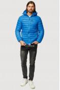 Оптом Куртка мужская стеганная голубого цвета 1852G в Нижнем Новгороде