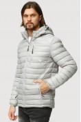 Оптом Куртка мужская стеганная светло-серого цвета 1852SS в Казани, фото 3