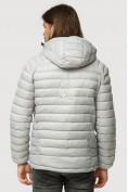 Оптом Куртка мужская стеганная светло-серого цвета 1852SS в Казани, фото 4