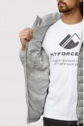 Оптом Куртка мужская стеганная светло-серого цвета 1852SS в Казани, фото 6