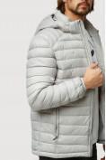 Оптом Куртка мужская стеганная светло-серого цвета 1852SS в Казани, фото 7