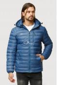 Оптом Куртка мужская стеганная синего цвета 1852S в Казани, фото 2