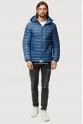 Оптом Куртка мужская стеганная синего цвета 1852S в Казани