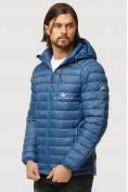 Оптом Куртка мужская стеганная синего цвета 1852S в Казани, фото 3