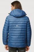 Оптом Куртка мужская стеганная синего цвета 1852S в Казани, фото 4