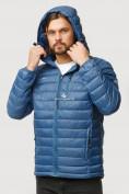 Оптом Куртка мужская стеганная синего цвета 1852S в Казани, фото 5