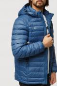 Оптом Куртка мужская стеганная синего цвета 1852S в Казани, фото 7