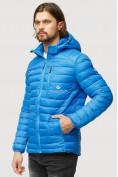 Оптом Куртка мужская стеганная голубого цвета 1852G в Нижнем Новгороде, фото 3