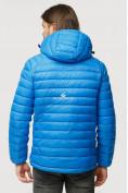 Оптом Куртка мужская стеганная голубого цвета 1852G в Нижнем Новгороде, фото 4