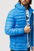 Оптом Куртка мужская стеганная голубого цвета 1852G в Нижнем Новгороде, фото 7