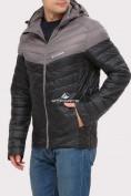 Оптом Куртка мужская стеганная черного цвета 1853Ch, фото 4