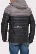 Оптом Куртка мужская стеганная черного цвета 1853Ch, фото 2