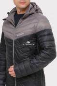 Оптом Куртка мужская стеганная черного цвета 1853Ch, фото 5