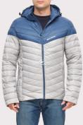 Оптом Куртка мужская стеганная светло-серого цвета 1853SS в Казани, фото 2