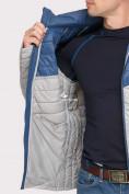 Оптом Куртка мужская стеганная светло-серого цвета 1853SS в Казани, фото 6