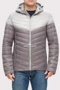 Оптом Куртка мужская стеганная серого цвета 1853Sr, фото 2