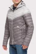 Оптом Куртка мужская стеганная серого цвета 1853Sr, фото 3
