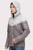 Оптом Куртка мужская стеганная серого цвета 1853Sr, фото 4