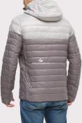 Оптом Куртка мужская стеганная серого цвета 1853Sr, фото 5