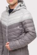 Оптом Куртка мужская стеганная серого цвета 1853Sr, фото 6