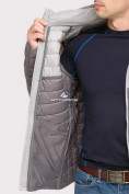 Оптом Куртка мужская стеганная серого цвета 1853Sr, фото 7