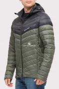Оптом Куртка мужская стеганная цвета хаки 1853Kh, фото 4