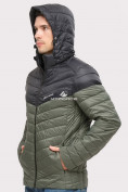 Оптом Куртка мужская стеганная цвета хаки 1853Kh, фото 5