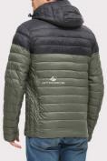 Оптом Куртка мужская стеганная цвета хаки 1853Kh, фото 2
