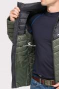 Оптом Куртка мужская стеганная цвета хаки 1853Kh, фото 7