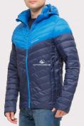 Оптом Куртка мужская стеганная темно-синего цвета 1853TS в  Красноярске, фото 4