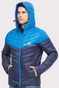 Оптом Куртка мужская стеганная темно-синего цвета 1853TS в  Красноярске, фото 5