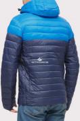 Оптом Куртка мужская стеганная темно-синего цвета 1853TS в  Красноярске, фото 3