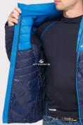 Оптом Куртка мужская стеганная темно-синего цвета 1853TS в  Красноярске, фото 6
