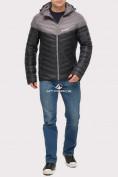 Оптом Куртка мужская стеганная черного цвета 1853Ch