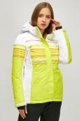 Оптом Женский зимний горнолыжный костюм салатового цвета 01856Sl в Казани, фото 2