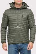 Оптом Куртка мужская стеганная цвета хаки 1858Kh в Екатеринбурге, фото 4