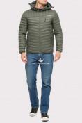 Оптом Куртка мужская стеганная цвета хаки 1858Kh в Екатеринбурге