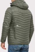 Оптом Куртка мужская стеганная цвета хаки 1858Kh в Екатеринбурге, фото 2