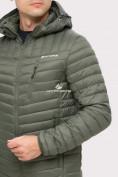 Оптом Куртка мужская стеганная цвета хаки 1858Kh в Нижнем Новгороде, фото 6