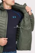 Оптом Куртка мужская стеганная цвета хаки 1858Kh в Екатеринбурге, фото 7