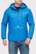 Оптом Куртка мужская стеганная голубого цвета 1858G в Екатеринбурге, фото 2