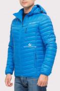 Оптом Куртка мужская стеганная голубого цвета 1858G в Екатеринбурге, фото 4