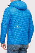 Оптом Куртка мужская стеганная голубого цвета 1858G в Екатеринбурге, фото 3