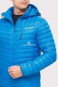 Оптом Куртка мужская стеганная голубого цвета 1858G в Екатеринбурге, фото 6