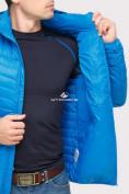 Оптом Куртка мужская стеганная голубого цвета 1858G в Екатеринбурге, фото 7