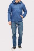 Оптом Куртка мужская стеганная синего цвета 1858S в Нижнем Новгороде