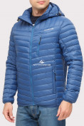Оптом Куртка мужская стеганная синего цвета 1858S в Нижнем Новгороде, фото 3