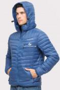 Оптом Куртка мужская стеганная синего цвета 1858S в Нижнем Новгороде, фото 7