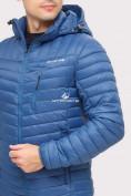 Оптом Куртка мужская стеганная синего цвета 1858S в Нижнем Новгороде, фото 4