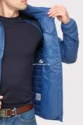 Оптом Куртка мужская стеганная синего цвета 1858S в Нижнем Новгороде, фото 5